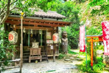 大綱金比羅神社前の案内板【神奈川宿歴史の道その4】