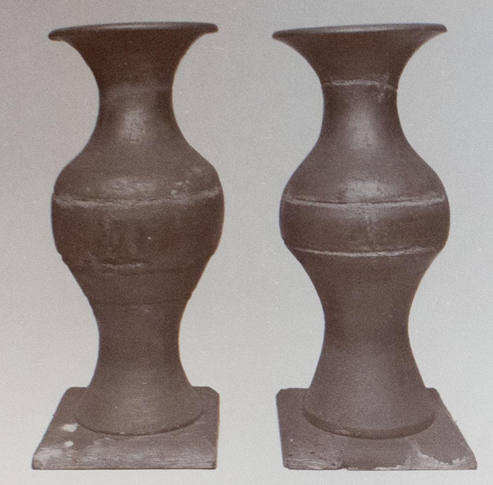 木造黒漆花瓶
