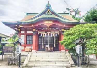 熊野権現を祀る熊野神社の案内板【神奈川宿歴史の道その22】